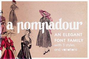 A Pompadour   a font family