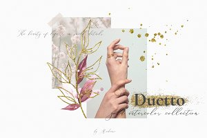 Duetto - gold watercolor collection