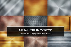 Metal PSD Backdrop