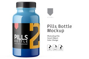 Pills Bottle Mockup 2
