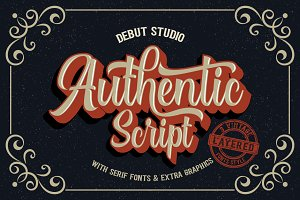 Authentic // Layered Fonts