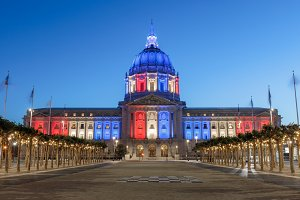 SF City Hall in Memorial Day Lights