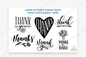 Thank you sweet handwritten graphics