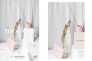 Card Mockup & Blush Pink Decor, 5x7