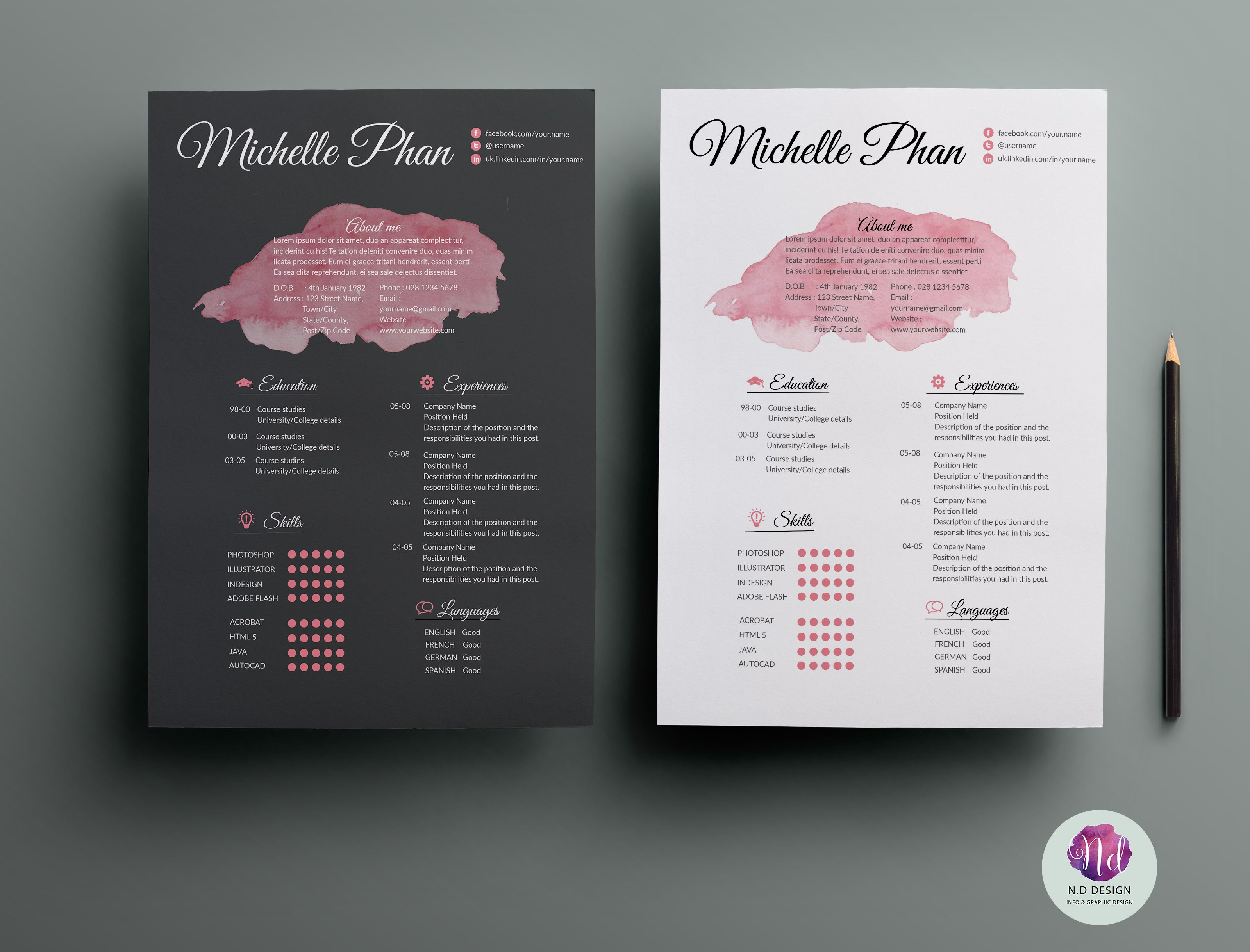 Resume template ~ Resume Templates ~ Creative Market