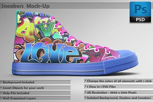 Sneakers Shoes Mockup