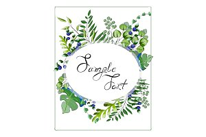 Wedding floral watercolor style