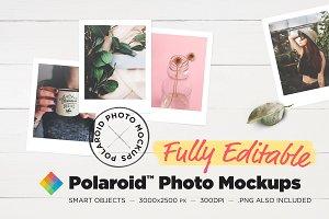 Editable Polaroid™ Photo Mockups