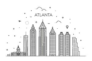 Atlanta Linear Skyline