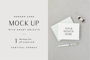 A2 Card Mockup with Smart Objects