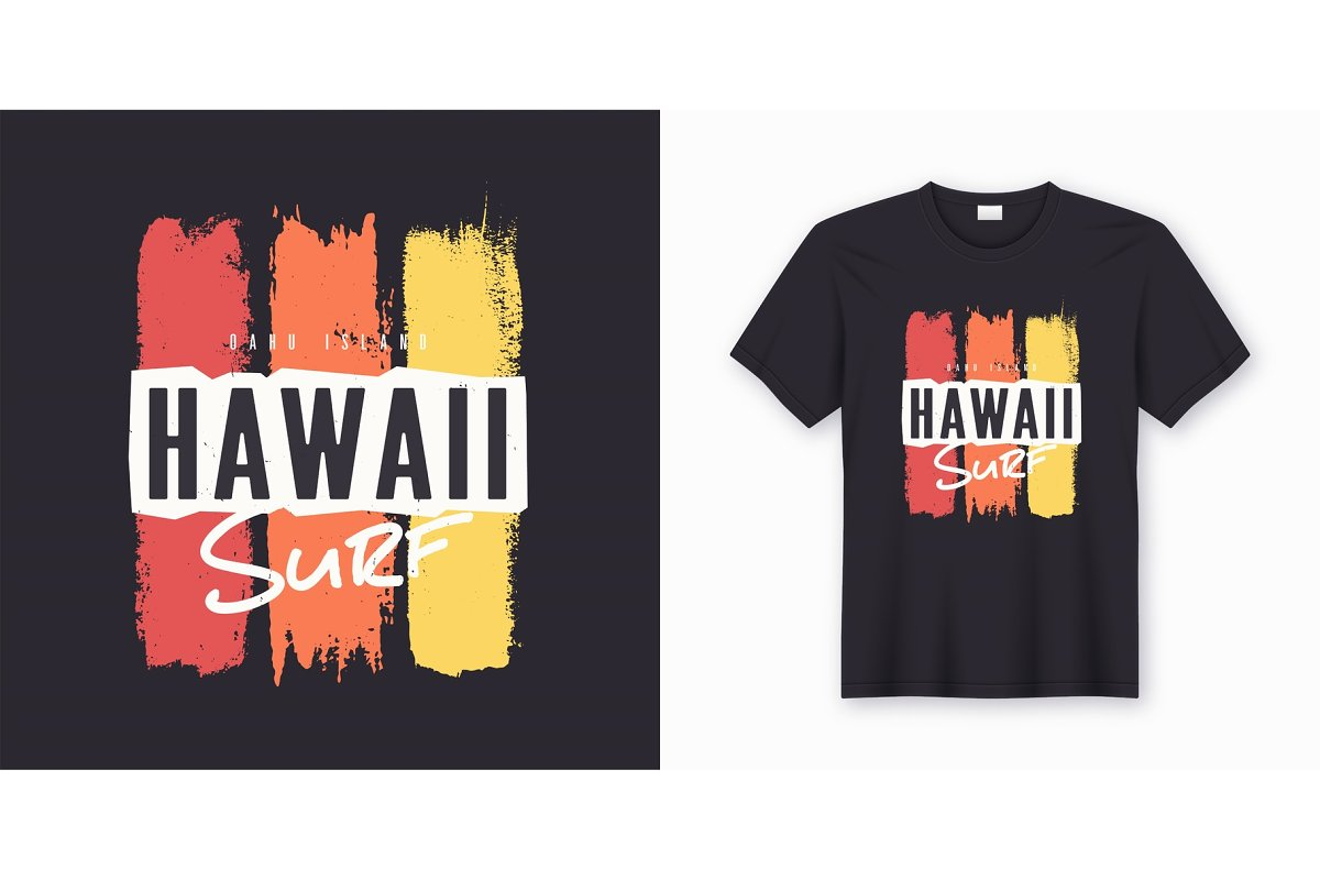d208d45839 Surf in Hawaii. Stylish graphic tee