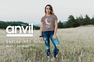 Anvil 880 T-shirt Model Mockup