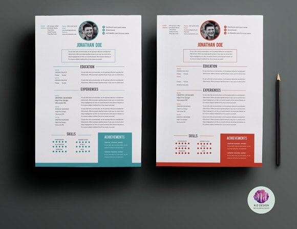 CV Template ( 2 Color Options )