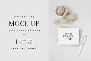 A2 Card Mockup with Smart Object