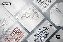 Decals Stickers Mockup Set by  in Product Mockups