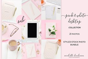 Pink & White Desktop Stock Bundle