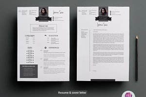 CV template , cover letter template