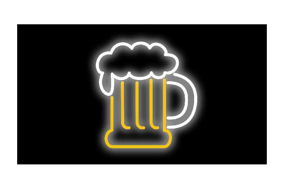 Animation Beer Mug Foam  Neon Sign