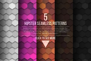 5 Seamless Hipster Patterns