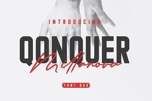 Qonquer Millanova - Script Font Duo