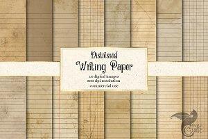 Distressed Writing Paper Printable