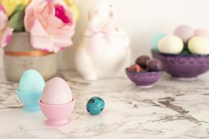 Easter eggs. Colorful matte eggs