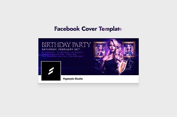 Birthday Party Flyer Template Flyer Templates Creative Market