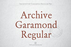 Archive Garamond Regular Pro