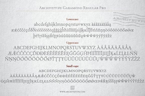 Archive Garamond Regular Pro