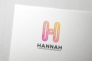 Hannah Letter H Logo