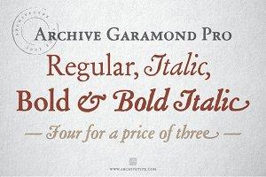 Archive Garamond Pro Family of 4