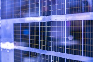 close up solar cell for clean energy