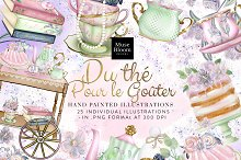 English Tea Time Party Illustrations