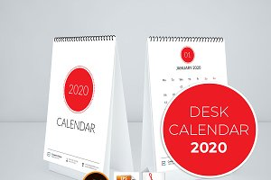 2020 Simple Calendar for Desk
