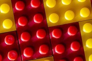 Plastic geometric cubes. Constructio