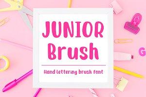 Junior Brush - Handwritten BrushFont