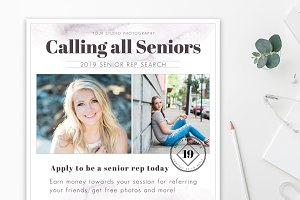 Senior Rep Template for Photoshop