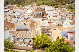 Polaroid Frigiliana, Malaga, Spain.