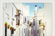 Polaroid of Vejer, Andalusia, Spain
