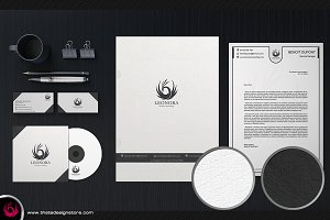 White and Classy Corporate Identity
