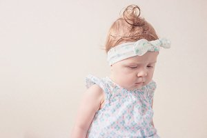 Portrait of eight month girl in the