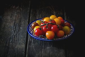 Assortment of cherry tomatoes