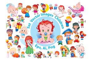 Set Vector Images Children