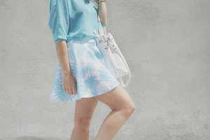 Elegant fashion young woman