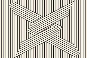 Visual illusion/line art