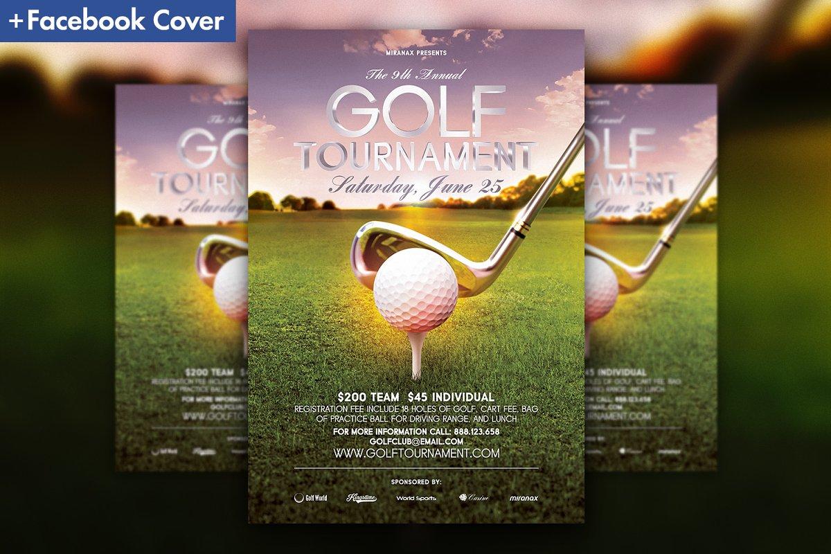 golf tournament program template.html