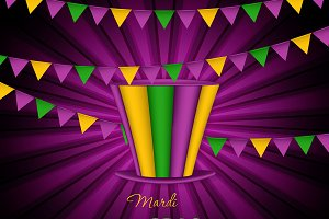 Mardi Gras party hat