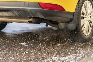 car pipe exhaust release smoke. air