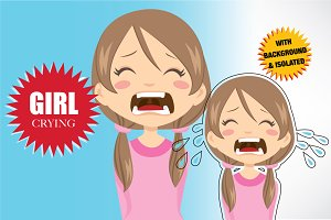 Girl Crying Avatar Expression