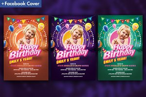 Kids Birthday Party Invitation Flyer